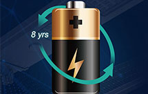 8 YEARS BATTERY SPAN LIFE